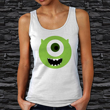 "Mike Wazowski Monsters inc Women's Tank Top (Color Available - Print Size 12""x12"" )"