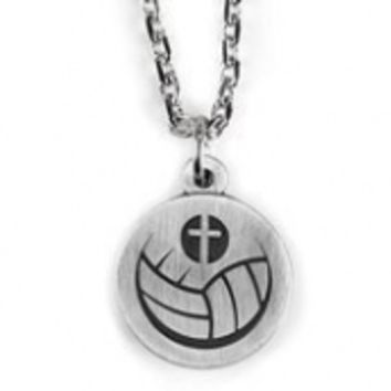 Athlete's Prayer Volleyball and Cross Necklace
