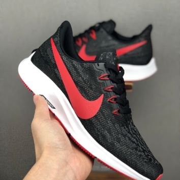 HCXX 19June 1182 Nike Dual Fusion 36 Flyknit Breathable Sports Casual Running Shoes black red