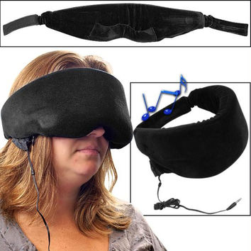 Remedy  Heat Sensitive Memory Foam Sleep Mask w- Music Input