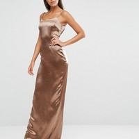 Missguided Tall Exclusive Silky Low Back Maxi at asos.com
