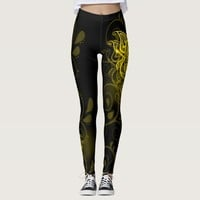 Stylized Golden Butterfly Leggings