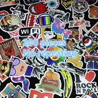 200pcs Stickers Car Styling Mix Skateboard Laptop Luggage Snowboard Car Fridge Phone DIY Vinyl Decal Motorcycle Sticker Graffiti