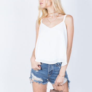 Playful Shoulder Ties Tank