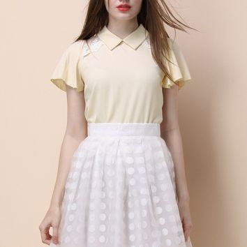 Mayonnaise Love Chiffon Top