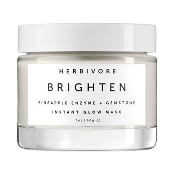 Brighten Pineapple Enzyme + Gemstone Instant Glow Mask - Herbivore | Sephora
