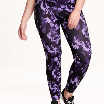 Old Navy Patterned Compression Plus Size Leggings