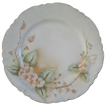 French Limoges Porcelain  Wall Plate