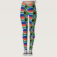 Leggings with flag of South Africa