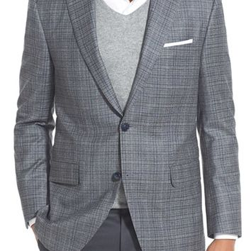 Peter Millar Classic Fit Plaid Wool & Cashmere Sport Coat,