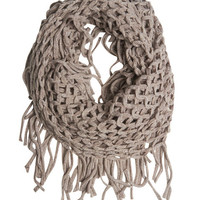 Lurex Fringe Eternity Scarf