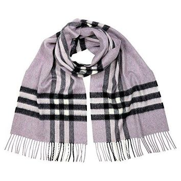 Burberry Women's Classic Check Scarf Dusty Lilac