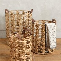 Spiral Weave Storage Baskets by Anthropologie White Set Of 3 House & Home