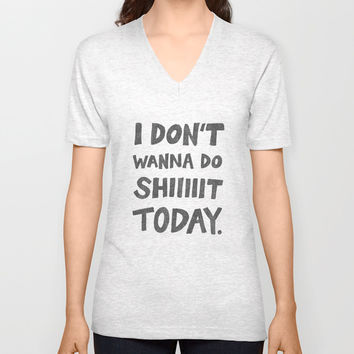 Don't Wanna Unisex V-Neck by Nick Nelson | Society6