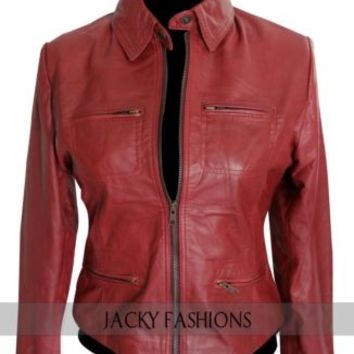 Once Upon a Time Jennifer Morrison Emma Swan Ladies Leather  Jacket + FREE GIFT