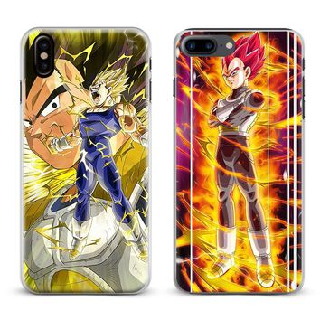 Dragon Ball Z DBZ Vegeta Anime Coque Phone Case For Apple iPhone X 8Plus 8 7Plus 7 6sPlus 6s 6Plus 6 5 5S SE Cover Shell