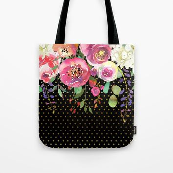 Flowers bouquet #31 Tote Bag by Juliana RW