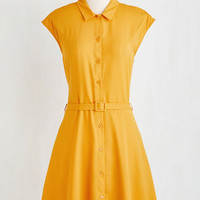 Mid-length Short Sleeves A-line Gallery Galavanting Dress by ModCloth
