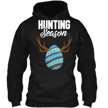 Hunting Season Cute Bunny Funny Easter T-Shirt Boys Girls Pullover Hoodie 8 oz
