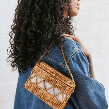 Straw Structured Crossbody Bag | Urban Outfitters