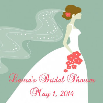 Romantic Bridal Shower Favor Tag