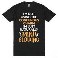 I'm Just Naturally Mind Blowing-Unisex Athletic Black T-Shirt
