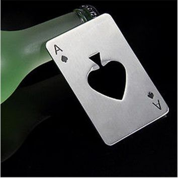 New Smart Poker Card Home Kitchen Bar Tool Soda Beer Bottle Cap Opener [6678942407]