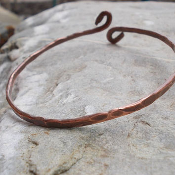 Forge bracelet FREE SHIPPING WORLDWIDE Wire Wrapped hammer Jewelry Copper   /antique, vintage /steampunk / bohemian / boho  handmade