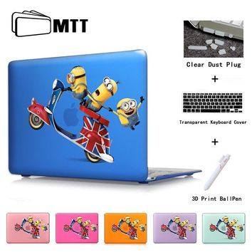 3D Print Case For Laptop Macbook Air 13 Cute Minions Movie Poster Cover Mac Pro Retina 12 Pro 13.3 Pro 15 Air 11 Crystal Shell