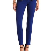 "Refuge ""Skin Tight"" Colored Denim Leggings by Charlotte Russe - Royal"