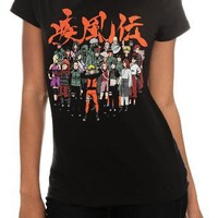 Naruto Shippuden Group Girls T-Shirt Size : Medium