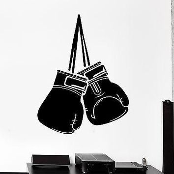 Wall Sticker Sport Box Boxing Gloves Martial Arts Fight Vinyl Decal Unique Gift (z2974)
