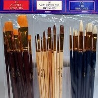30 Fine Art Paint Brushes for Acrylic, Oil, Watercolors