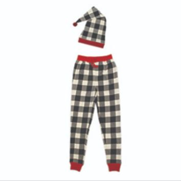 Organic Men's Holiday PJ Bottoms & Cap Set by L'oved Baby