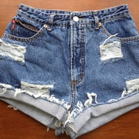 High Waisted Jean Shorts by csrclothing on Etsy
