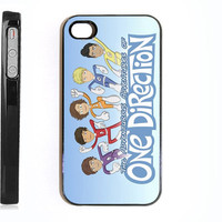 Apple iPhone 4 4s 4G One Direction 1D Superheroes Design Case Faceplate Mobile Phone Accessory