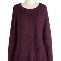 ModCloth Minimal Mid-length Long Sleeve Spirited Splendor Sweater