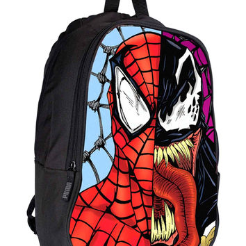 Venom and spiderman Face 3a05d1d8-d7a5-4956-b2b2-cd9d3aaadb4b for Backpack / Custom Bag / School Bag / Children Bag / Custom School Bag *02*