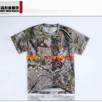 Realtree APG pattern fabrics hunting shirt ideal turkey hunting camo t shirt+Free shipping(SKU12050236)