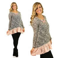 The Edelweiss Tunic in Peach