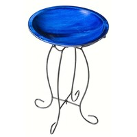 SheilaShrubs.com: Birdbath with Stand - Blue 2GB442 by Evergreen Enterprises: Birdbaths