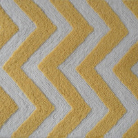 Chevron Yellow, White Uv Poly High/ Low Hook Rug