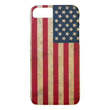 Vintage American Flag Case-Mate Barely There iPhone 7 Case