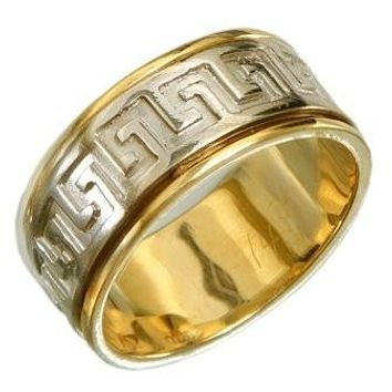 Versace Gold Wedding Band Ring