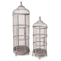 Asst. of 2 Aviary Birdcages, Brown, Birdcages