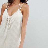 Somedays Lovin Lattice Beach Romper at asos.com