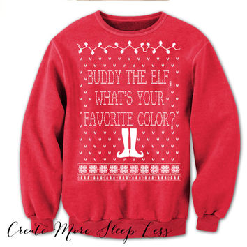 Buddy The Elf Sweater. Elf The Movie Sweater.