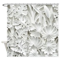 BOTANICAL SCULPTURE SHOWER CURTAIN