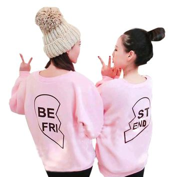 BEST FRIEND - BFF - Matching Heart Women's Sweatshirt