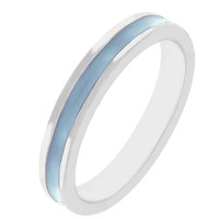 Matte Aqua Enamel Eternity Ring